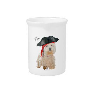 Pirate Westie Pitcher