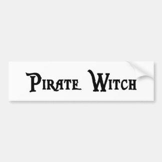 Pirate Witch Bumper Sticker