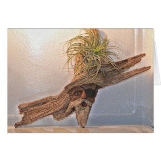 Pirate with Air Plant Card