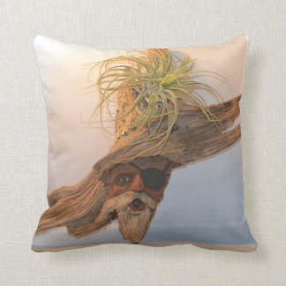 Pirate With Air Plant Throw Pillow