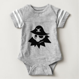 Pirate with Eye Patch Baby Bodysuit