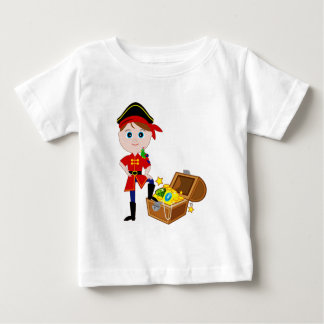 Pirate with Treasure Chest Baby T-Shirt