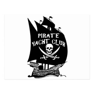 Pirate Yacht Club Postcard
