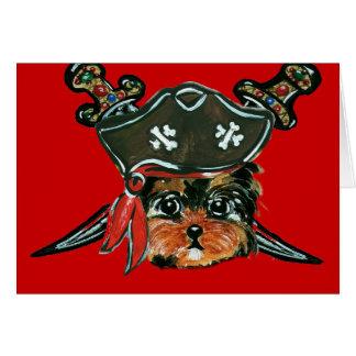 Pirate Yorkie Poo Card