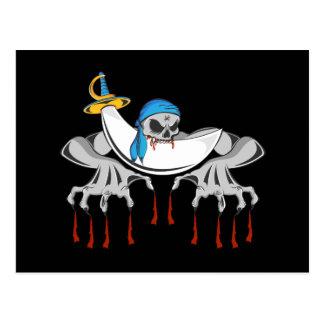 Pirate Zombie Skeleton Postcard