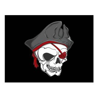 Pirate Zombie Skull Postcards
