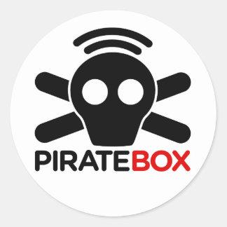 PirateBox Logo Round Sticker
