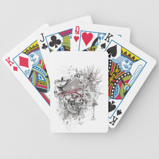 pirated dead skull vintage design bicycle playing cards
