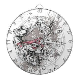 pirated dead skull vintage design dartboard