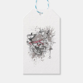 pirated dead skull vintage design gift tags