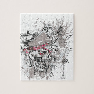 pirated dead skull vintage design jigsaw puzzle