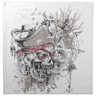 pirated dead skull vintage design napkin