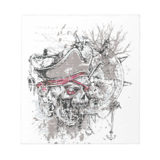 pirated dead skull vintage design notepad