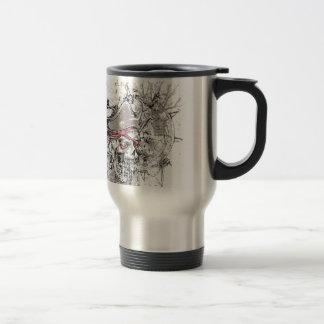 pirated dead skull vintage design travel mug