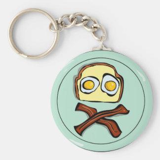 pirateggs basic round button keychain
