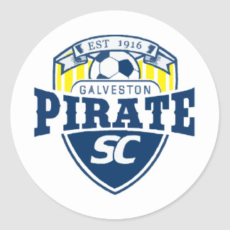 piratelogo2 classic round sticker
