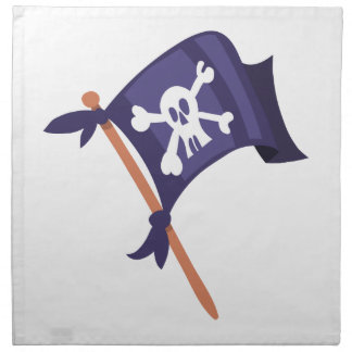 Piratenfahne pirate flag napkin