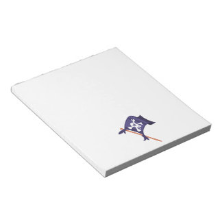 Piratenfahne pirate flag notepad