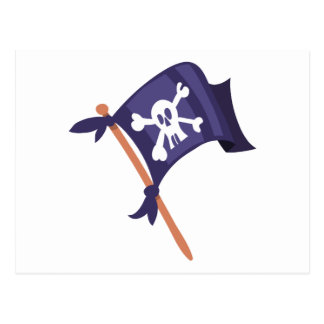 Piratenfahne pirate flag postcard