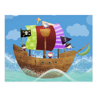 pirates ahoy gifts postcards