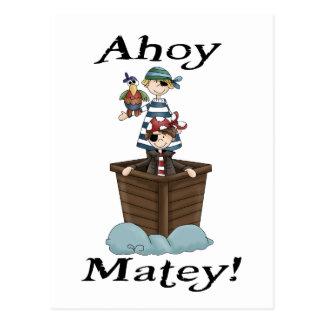 Pirates Ahoy Matey Postcard