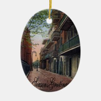 Pirates Alley French Quarter Ceramic Oval Ornament