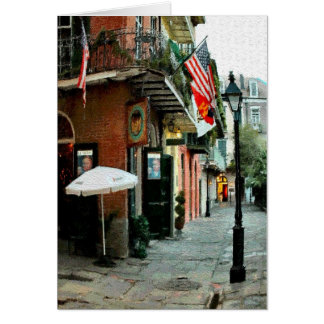 Pirates Alley, French Quarter, New Orleans Card