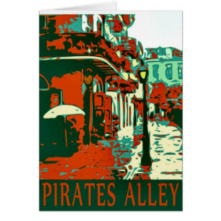 Pirates Alley French Quarter New Orleans Card