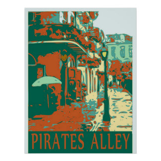 Pirates Alley Green Poster