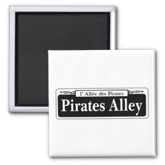 Pirates Alley, New Orleans Street Sign Square Magnet