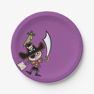 Pirates and Treasure Hunt Paper Plate