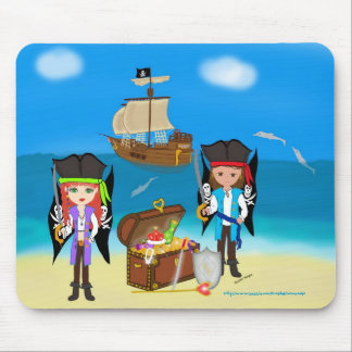 Pirates and Treasure Use Mousepad