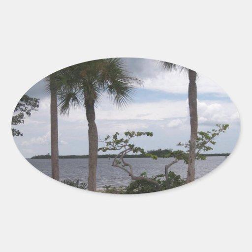 Pirate's Beach #4 Oval Sticker