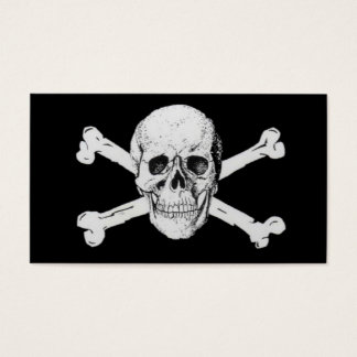Pirates Black Skull and Crossbones Business Card