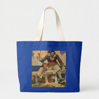 Pirates Boarding a Ship Large Tote Bag