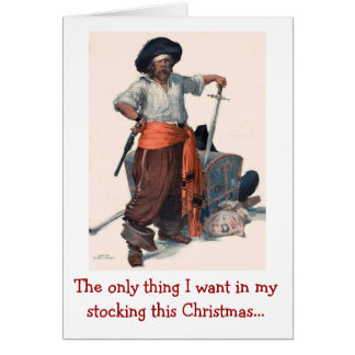 Pirate's Christmas Wish Card