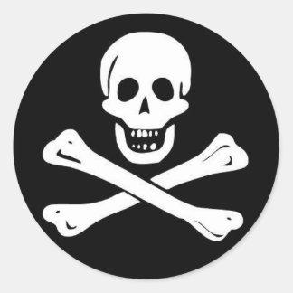 Pirates Classic Round Sticker
