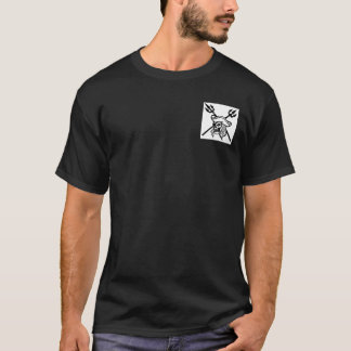 Pirate's Coral Mens Black T-Shirt