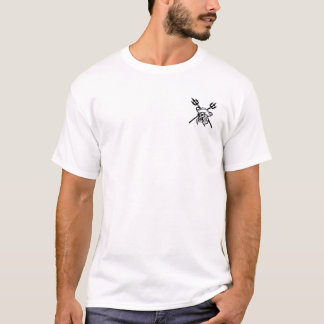 Pirate's Coral Mens White T-Shirt