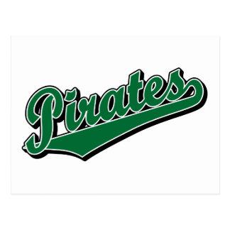 Pirates in Green Postcard