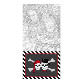 pirates in love custom photo card