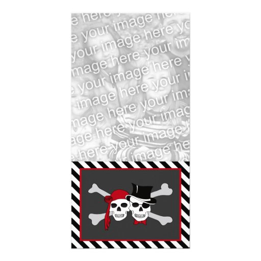 pirates in love photo card template