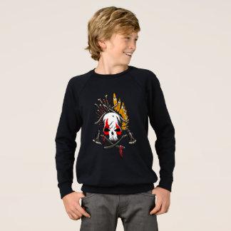 Pirates Kids' Raglan Sweatshirt, Black Sweatshirt