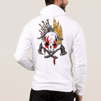 Pirates Men's Bella+Canvas Full-Zip Hoodie, White Hoodie