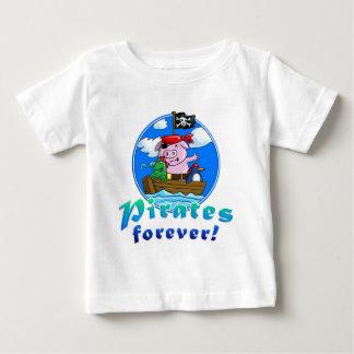 pirates more forver, comic pig, penguin, frog baby T-Shirt