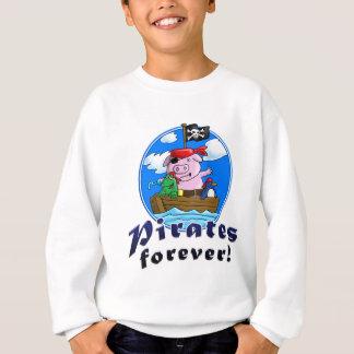 pirates more forver, comic pig, penguin, frog sweatshirt