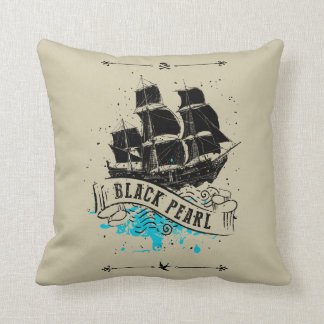 Pirates of the Caribbean 5 | Black Pearl Throw Pillow