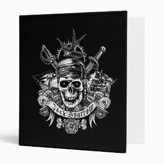 Pirates of the Caribbean 5 | Jack Sparrow Skull 3 Ring Binder