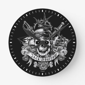 Pirates of the Caribbean 5 | Jack Sparrow Skull Round Clock
