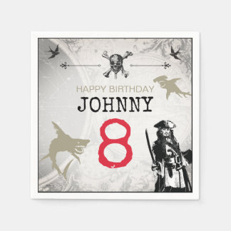 Pirates of the Caribbean | Birthday Paper Napkin